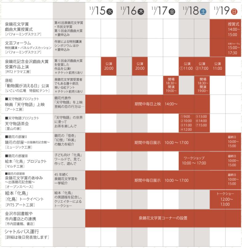 金沢泉鏡花フェスティバル2017