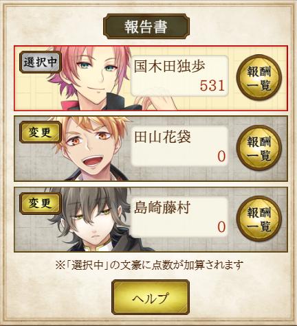 『調査任務「學問ノススメ-桜」』得点